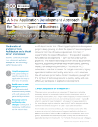 A New Application Development Approach for Today's Speed of Business