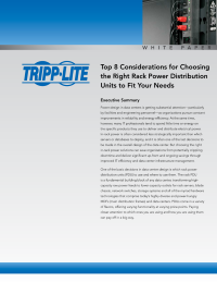 Top 8 Considerations for Choosing the Right Rack Power Distribution Units to Fit Your Needs