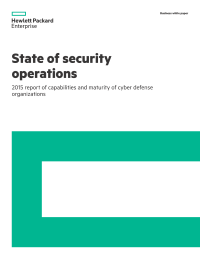 State of security operations: 2015 report of capabilities and maturity of cyber defense organizations
