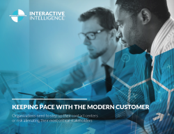 Keeping pace with the modern customer