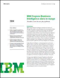 IBM Cognos Business Intelligence dans le nuage