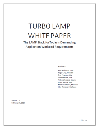 TURBO LAMP: The LAMP Stack for Today's Demanding Application Workload Requirements
