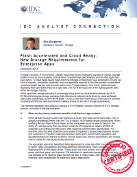 Flash Accelerated and Cloud Ready: New Storage Requirements for Enterprise Apps