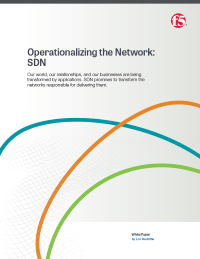 Operationalizing the Network: SDN