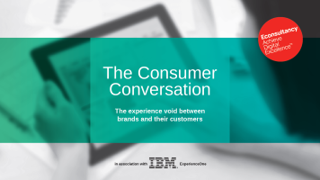 The Consumer Conversation: The experience void between brands and their customers