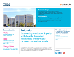 Zalando: Increasing customer loyalty with highly targeted marketing campaigns across channels at scale