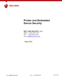 Printer and Embedded Device Security