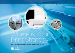 Where is Your Print Strategy?