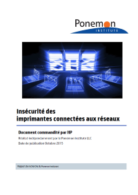 L'importance de la sécurité des imprimantes pour l'entreprise, selon IDC