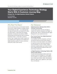 Your Digital Experience Technology Strategy Starts With A Customer Journey Map