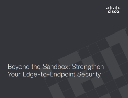Beyond the Sandbox: Strengthen Your Edge-to-Endpoint Security
