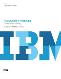 Recruitment is marketing