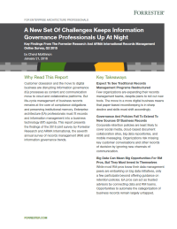 A New Set Of Challenges Keeps Information Governance Professionals Up At Night