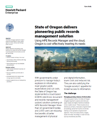 State of Oregon delivers pioneering public records management solution