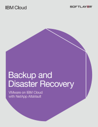 Backup and Disaster Recovery: VMware on IBM Cloud with NetApp AltaVault