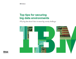 Top tips for securing big data environments