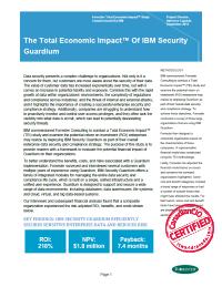 The Total Economic ImpactTM Of IBM Security Guardium