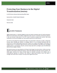 Protecting Your Business in the Digital Transformation Journey
