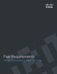 5 Requirements When Considering Web Security