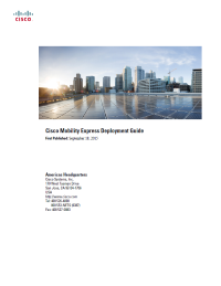 Cisco Mobility Express Deployment Guide