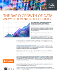 The rapid growth of data