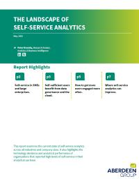 The Landscape of Self Service Analytics