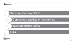 How well do you know your apps? How to implement a Continuous Application Monitoring Initiative