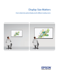 Display Size Matters: How to determine optimal display size for different meeting rooms
