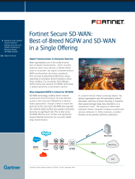 Fortinet Secure SD-WAN: Best-of-Breed NGFW and SD-WAN in a Single Offering