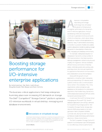 Boosting storage performance