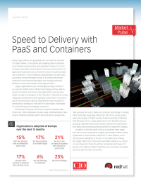 Speed to Delivery with PaaS and Containers