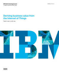 Deriving business value from the Internet of Things
