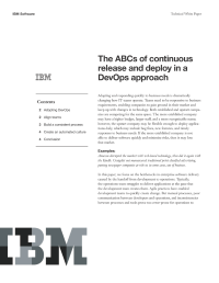 The ABCs of continuous release and deploy in a DevOps approach