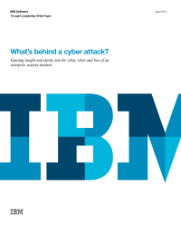 What's behind a cyber attack?