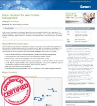 Gartner Magic Quadrant for Web Content Management 2015