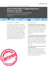 The Forrester wave digital experience platforms Q4 2015
