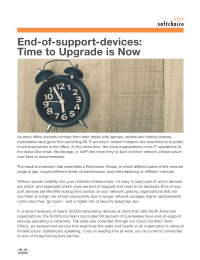 End-of-support-devices: Time to Upgrade is Now