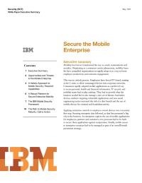 Secure the Mobile Enterprise
