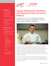 Avaya Midmarket Solutions Aid Rapid Growth at Carlo's Bakery