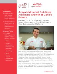 Avaya Midmarket Solutions Aid Rapid Growth at Carlo's Bakery