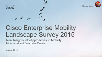 Cisco Enterprise Mobility Landscape Survey 2015