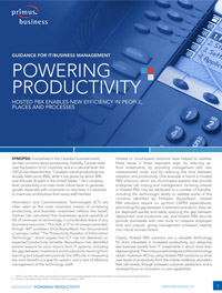 Guidance for IT/Business Management - Powering Productivity
