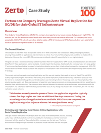 Fortune 100 Company leverages Zerto Virtual Replication for BC/DR for their Global IT Infrastructure