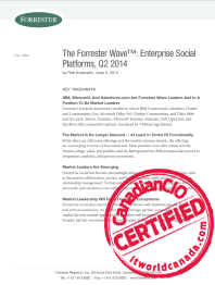 The Forrester Wave™: Enterprise Social Platforms, Q2 2014