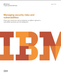 Managing security risks and vulnerabilities