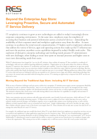 Beyond the Enterprise App Store:  Leveraging Proactive, Secure and Automated IT Service Delivery