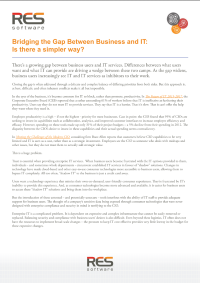 Bridging the Gap Between Business and IT:  Is there a simpler way