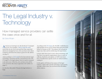 The Legal Industry v. Technology.