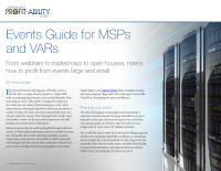 Events Guide for MSPs and VARs