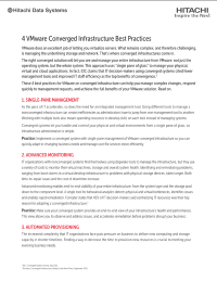 Four VMware Converged Infrastructure Best Practices